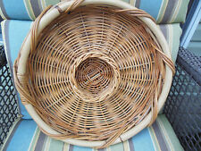 "Wicker/Rattan CHIP and DIP/Vegetable Tray Basket  17"" ~VERY NICE~"