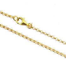 Silberkette 925 Silber vergoldet 40 - 90 cm Ø 2,2 mm Halskette Erbskette