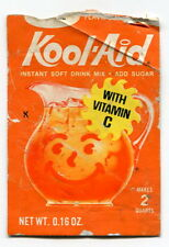 """Old Empty """"KOOL-AID"""" Package w/ """"Pencil People"""" Pirate Toy Cutout On Reverse"""