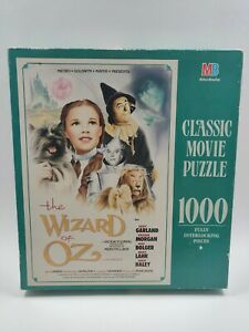 Vintage Milton Bradley Classic Movie Puzzle The Wizard Of Oz 1000 Piece Sealed