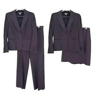 Ann Taylor Factory Suit 3 pc - Blazer 8 / Pants Skirt 10 All Season Birdseye