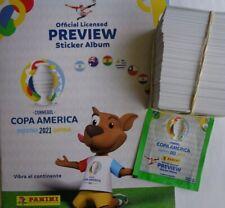 PANINI COPA AMERICA 2021 PREVIEW SOFTCOVER ALBUM + 400 Stickers Complete set