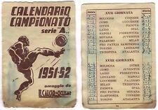 CALENDARIO TASCABILE CAMPIONATO DI CALCIO SERIE A 1951-52