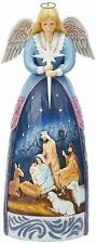 Jim Shore Heartwood Creek LARGE ANGEL WITH NATIVITY STATUE 4059402 Dealer Stock