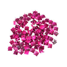 100-Pack Pink Nailheads DIY Metal Punk Spikes Spots Square Pyramid Studs for