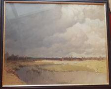 Pastell von Albert Stagura 1866-1947 80 x 100 cm. Moor bei Eggstätt Weißgoldra.