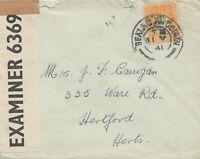 Irland: 1941: Brief nach Hertford - Censor