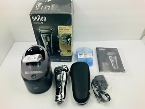 Braun Series 9 9296CC Chrome Shaver Wet/Dry w/Clean & Charge System FREE SHIP