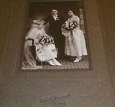 Antique Cabinet Card Wedding Bride Groom Denesavich Studio Old Forge PA