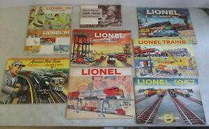 LOT OF 8 VINTAGE LIONEL TRAINS MODEL CATALOGS