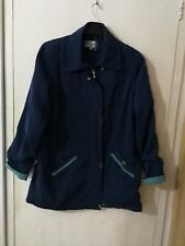 Women Size 16 Navy Blue Lined Coat Plus Size EU 44