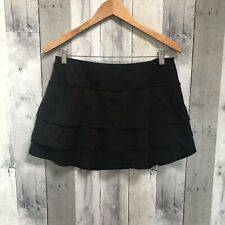 Athleta Black Stripe Swagger skort size Large Athletic Tennis