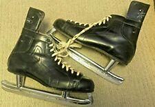 New listing N. Johnson Semi-Pro Hard Toe Hockey Skates Model #843 Size 12 -1969