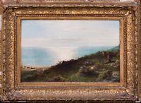 19th Century Scottish Coastal Sunset Landscape & Young Shepherd MACWHIRTER