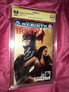 Trinity 15 - JL Movie Variant CBCS 9.8 Signed By Gal Gadot And Henry Cavill !