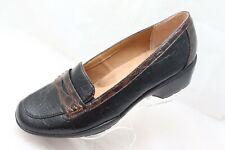 Softspots Women's Size 11W Faux Leather Loafer Shoes Black Croc Print
