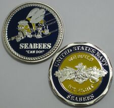 U.S. NAVY SEABEES CAN DO WE BUILD WE FIGHT CHALLENGE COIN