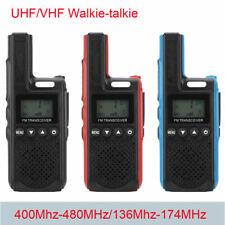 Mini Portátil de Mano negocio UHF Walkie Talkie Dos Vías De Radio Transceptor
