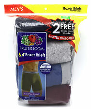 6 Blue Gray Red Small S 30-32 Inch Boxer Briefs Fruit Of The Loom C/P 76-81 CM