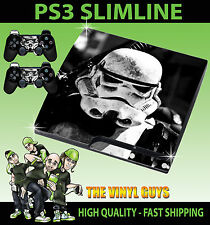 PLAYSTATION PS3 SLIM STORMTROOPER STAR WARS EMPIRE STICKER SKIN & PAD SKIN