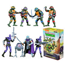 TEENAGE MUTANT NINJA TURTLE box set CARTOON FIGURE tmnt SDCC EXCLUSIVE neca 2017