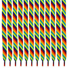 "33"" Rainbow Color Tipped Hockey Lacrosse Laces 
