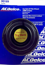 """ACDelco Cap Style Oil Filter Wrench 73MM 14 flutes 3/8""""Dr 30129 Made In The USA"""