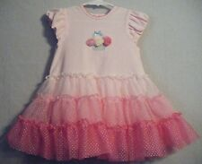 NWT Little Me Tutu Dress Baby Girls Bodysuit Tulle Ballet 1-Piece Pink 18M