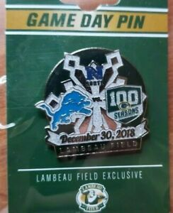 2018 Detroit Lions VS Green Bay Packers GAME DAY PIN 12/30/18 BRAND NEW NFL PIN
