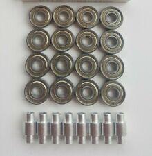 16 Pack Skate Bearings with 8mm-6mm Spacers - roller hockey rollerblade inline