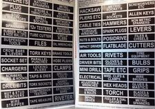 Garage Tool Box Trolley Drawer 78 Labels Decal Set Land Rover Series Classic Car