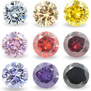 1.0~10mm 100pcs Round Colors Loose Cubic Zirconia AAAAA CZ stone Gemstone Jewelr