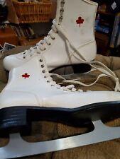 New listing White Canadian Flyer Figure Skates Size 9 Ice Skates Women Winter Ice skates