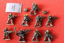 Games Workshop Warhammer 40k Kasrkin Stormtroopers x9 Melta Painted Metal Army
