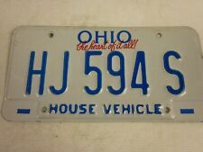 Ohio House Vehicle embossed licence/number plate US/United States/USA/American