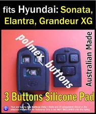 will fit Hyundai Elantra Sonata Santa FE  remote key fob - Button Repair key Pad