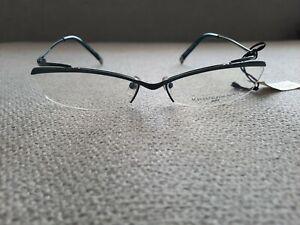 MASAKI MATSUSHIMA Japan Vintage H Rim Eyeglasses TITANIUM Model MF 1026 Green