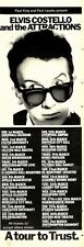 7/2/81PGN33 ELVIS COSTELLO AND THE ATTRACTIONS TOUR DATES ADVERT 15X5