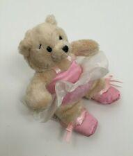 Ganz Plush Ballerina Bear Pink Tutu Satin Shoes 7 Inches CHE
