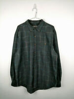 Vintage Mens Shirt The Territory Ahead Size L Grey Geo 100% Cotton Button Up Top
