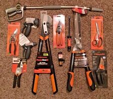 Lot of 12 Fiskars Yard Tools, Lopper, Hedge Shears, Bypass and Anvil Pruner NEW