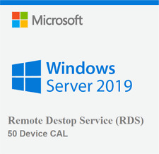 WINDOWS SERVER 2019 Option 50 Device Remote Desktop Service RDS Cals