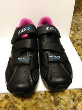 Garneau Multi Air Flex women's Cycling Shoes size 7/38 - Black, Pink, Blue