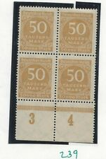 Germany, MNH P/B of 4, scott# 239, issued 1922-23, 50m Bister, see scan