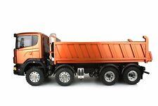 LESU 1/14 Metal Scania 8*8 Hydraulic Dumper RC Truck Model Motor ESC DIY TAMIYA