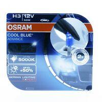 2x OSRAM H3 PK22s 55W 12V COOL BLUE © ADVANCE 5000K XENON EFFECT HYPER+