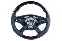 05-08 for Mercedes W164 ML500 ML63 AMG Steering Wheel Walnut Wood Black Leather