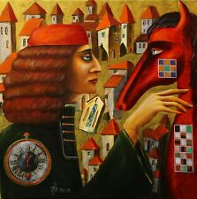 Painting ORIGINAL Oil canvas contemporary  Art surrealism by Pronkin 2020 HORSE1