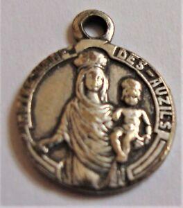 Notre Dame Des Auzils Small Vintage Catholic Medal
