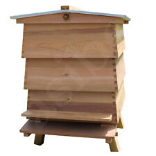 WBC Beehive Cedar Hive 3 Lifts Porch 2 Super 1 Brood Gabled Roof Beekeeping 267